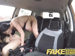 Fake Driving School naked sex in car Jasmine Jae