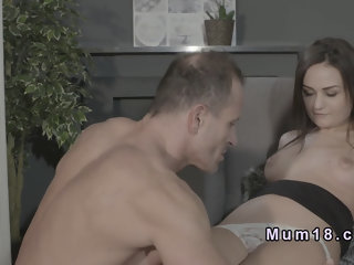 Shaved pussy Milf bangs in armchair