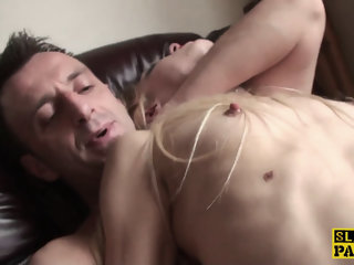 Stockinged british sub babe analy drilled