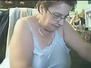 Granny showing on a Webcam