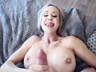 Top milf tries young dick in her very tight pussy