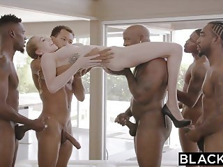BLACKED Kendra Sunderland BBC interracial GANGBANG!!