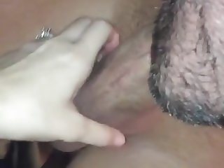 Cuck Hubby Cleans Bull & BBW Wife Creampie