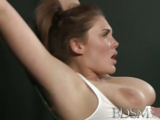 BDSM XXX Slave girls with massive tits get hardcore treatmen