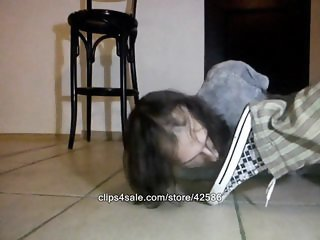 Licking Converse sneakers and spittles