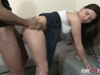 Seducing tart featuring an amazing interracial porn video