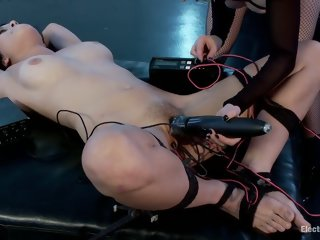 Female domination porn video featuring Aiden Starr, Raven Rocket and Raven Rockette