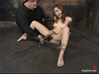 Beauteous Smokie Flame in amazing BDSM XXX movie
