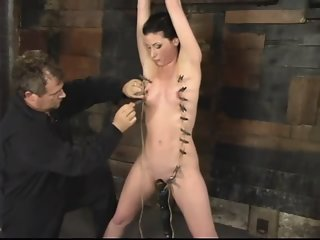 Comely Ariel X acting in BDSM video