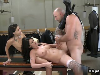 Pretty shaved Riley Grey getting drilled very hard