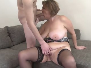 Horny pornstar in hottest lingerie, brunette sex video