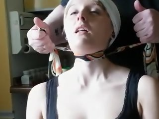 Horny amateur European, BDSM sex movie