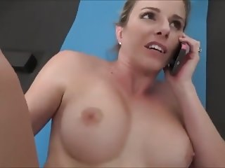 Mom fucks while on the phone with her husband