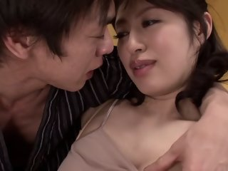 Horny Japanese slut Kaori Otonashi in Incredible natural tits, stockings JAV clip