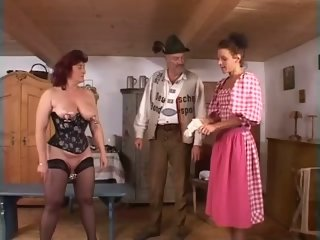 Mature redheaded slave girl fisted hard in pussy