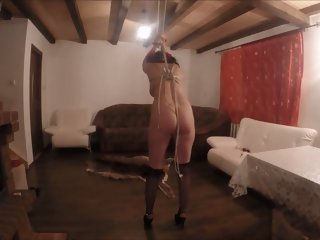 submisive jasmina gets whipped & fucked