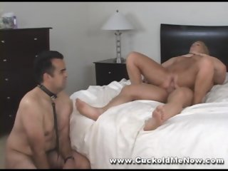 Cuckold husband watches milf hotwif segment