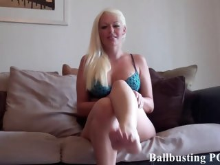 Courtney ballbusting your balls