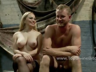 Goddess Aiden Starr and her new slave Drake Temple