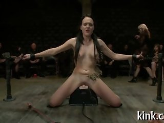 Raven slave girl gets fucked in public by nasty guys