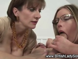 Mature strapon threeway femdoms hardcore