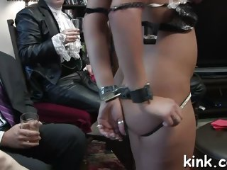 These gorgeous sluts in bondage are ready for a nasty party
