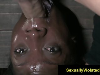 Anna Foxxx inverted and throat fucked
