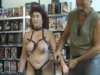 Hot mature slave slut dominated by her master
