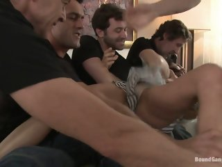 Legendary Dom Sandra Romain Returns as a Submissive GangBang Slut