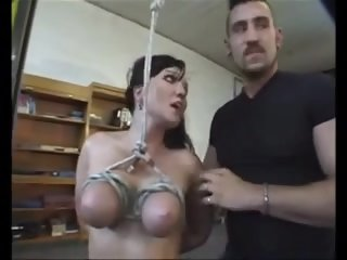 From BdsmStreak.com - 2 boys chastise german wench