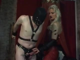 pain full scratching the cock head with long nails 02