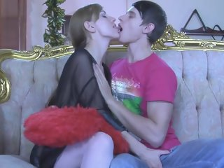 cumkiss and pegging russian style