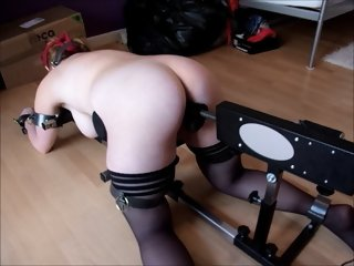 chubby redhead Video15 floor pillory & fuck machine 1st