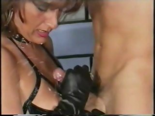 Domina and Slave cumshot
