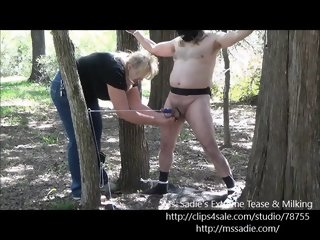 Outdoor Ball abuse Bondage Roleplaying with Ms. Sadie