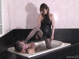 Japanese Femdom Mayumi Facesitting and Face Trample Humiliat