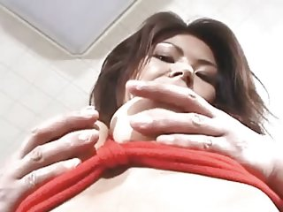 Asian slut tied up and fucked hard
