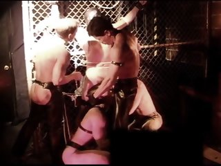 CBT BDSM orgy at San Francisco sex club with leather,