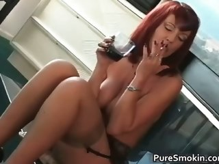 Big boobs red head cunt smoking bondage part3