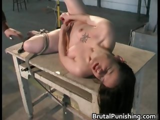 Hardcore bondage and brutal punishement part3