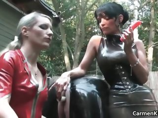 Sexy Carmen in hardcore s and m bdsm action part1