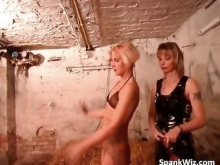 Sexy tattooed blonde gets tied and her part2