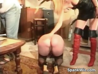Nasty mature slut has chains on her part4