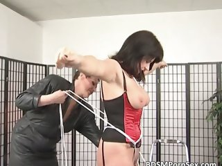 Bondage game where brunette busty MILF part6