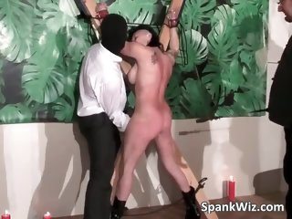 Tied tattooed brunette gets her sexy part2