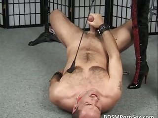 Obedient male slave is in BDSM play part1