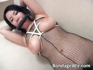 Hot tied Asiangets hairy pussy fucked part4