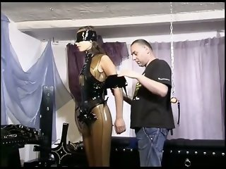 Sexy slave girl is in the action