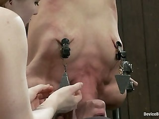 Ariel X is trapped in an inverted Sybian and cumming No hope for escape - only screaming.