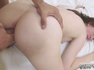 Dad forces friends daughter to fuck and friends daughter gets punished by